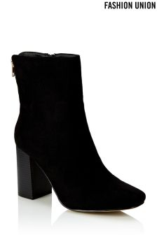 Fashion Union Block Heel Boots