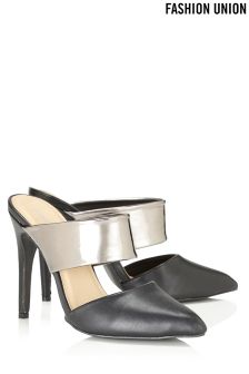 Fashion Union Slip On Stiletto Mule