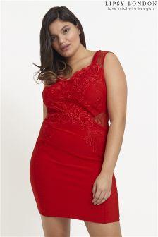 Lipsy Love Michelle Keegan Curve Applique Bodycon Dress