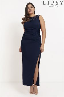Lipsy Curve Side Lace Detail Maxi Dress