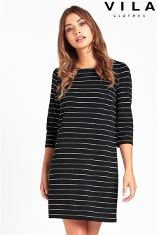 Vila Striped Midi Dress