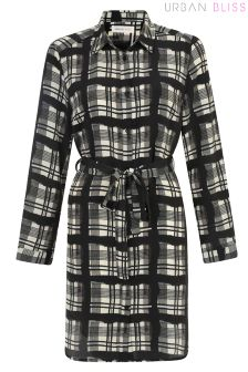 Urban Bliss Check Print Shirt Dress