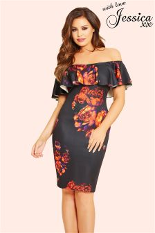Jessica Wright Floral Ruffle Dress