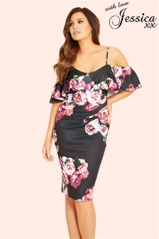 Jessica Wright Floral Cold Shoulder Dress