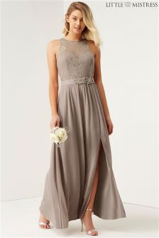 Little Mistress Bridesmaid Lace Maxi Dress