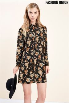 Fashion Union Floral Shirt Dress