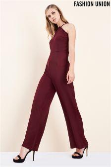Fashion Union Scallop Neck Jumpsuit