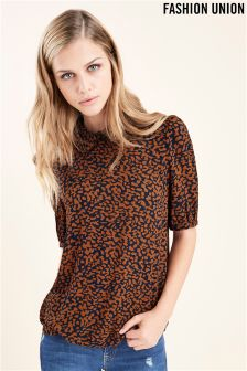 Fashion Union Animal Blouse