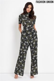 Fashion Union Floral Jumpsuit