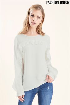 Fashion Union Frill Blouse