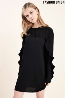 Fashion Union Frill Shift Dress