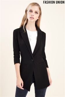 Fashion Union Low Neck Tailored Blazer