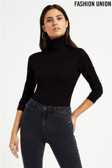 Fashion Union Turtle Neck Bodysuit