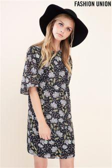 Fashion Union Floral Shift Dress