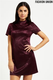 Fashion Union High Neck Mini Dress