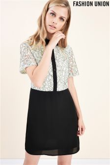 Fashion Union Floral Lace Dress