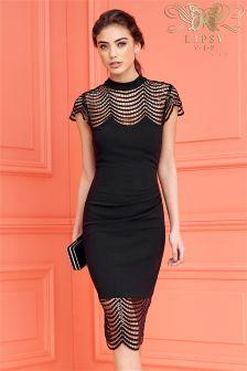 Lipsy VIP Sequin Lace Shift Dress