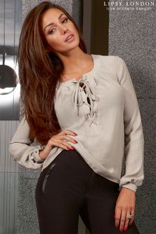 Lipsy Love Michelle Keegan Lace-up Blouse