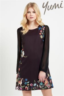 Yumi Woodland Floral Print Shift Dress