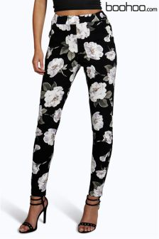 Boohoo Floral Skinny Trousers