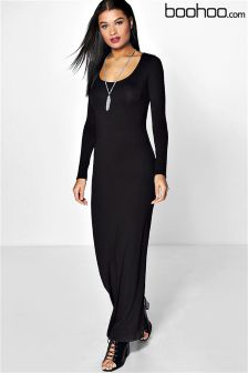 Boohoo Long Sleeve Maxi Dress