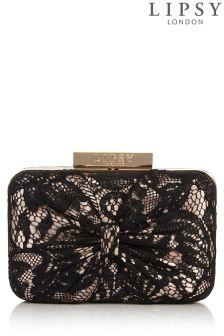 Lipsy Lace Detail Box Clutch Bag