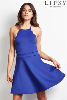 Lipsy Scallop Apron Skater Dress