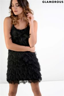 Glamorous Tassle Bodycon Dress