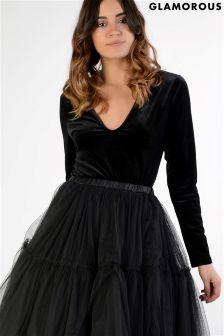 Glamorous Velvet Bodysuit