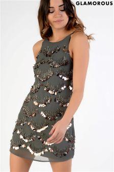 Glamorous Beaded Slip Dress