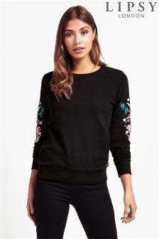 Lipsy Embroidered Crew Sweatshirt