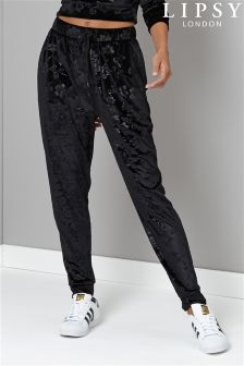 Lipsy Embossed Velvet Co-ord Jogger