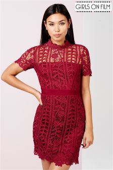Girls On Film Crochet Mini Dress