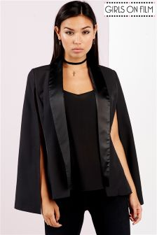 Girls On Film Lapel Cape Jacket