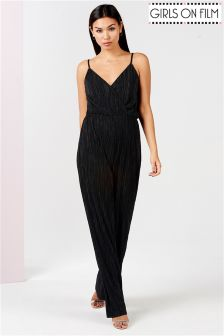 Girls On Film Pleated Jumpsuit