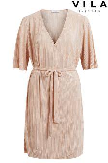 Vila Tie Waist Dress