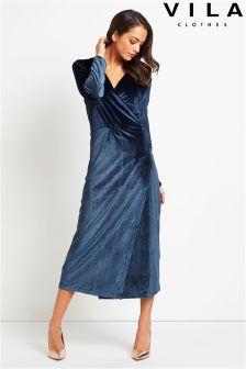 Vila Velvet Dress