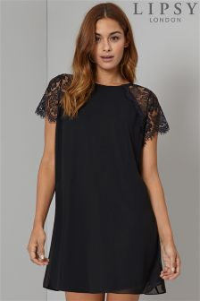 Lipsy Lace Sleeve Smock Dress