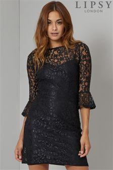 Lipsy Bell Sleeve Lace Dress