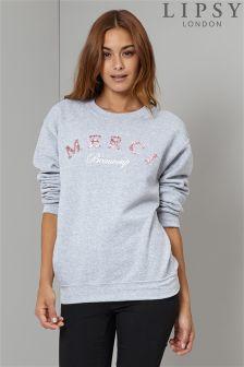 Lipsy Merci Beaucoup Logo Sweatshirt