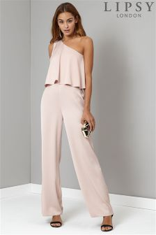 Lipsy One Shoulder Jumpsuit