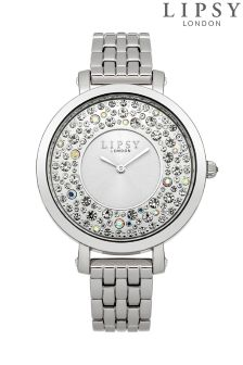 Lipsy Diamante Face Bracelet Watch