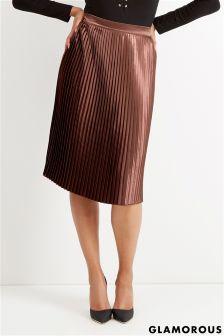 Glamorous Curve Pleated Skirt