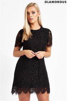 Glamorous Curve Lace Shift Dress