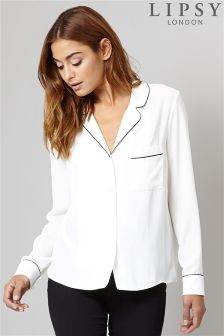 Lipsy Pyjama Inspired Shirt