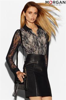 Morgan All-Over Lace Shirt