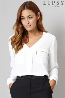 Lipsy Pocket Front Blouse