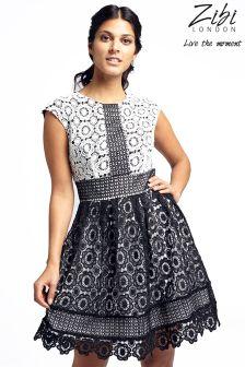 Zibi London Lace Cap Sleeves Dress