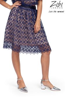 Zibi London Lace Two Tone Skirt