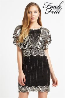 Frock & Frill Sequin Batwing Dress